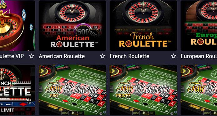 В Pin Up можно поиграть в европейскую, американскую, французскую и универсальную рулетки.